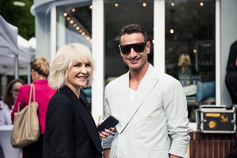 Anna Puślecka i Maciej Lisowski, właściciel agencji New Age Models/fot. Maciej Stankiewicz dla DYKF