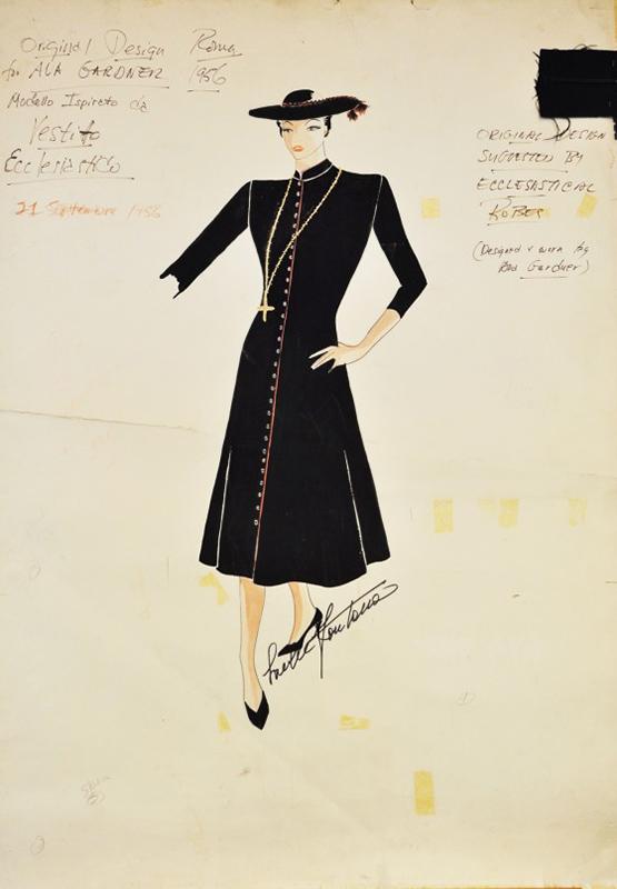 """Sukienka """"pretino"""" autorstwa Sorelle Fontana"""