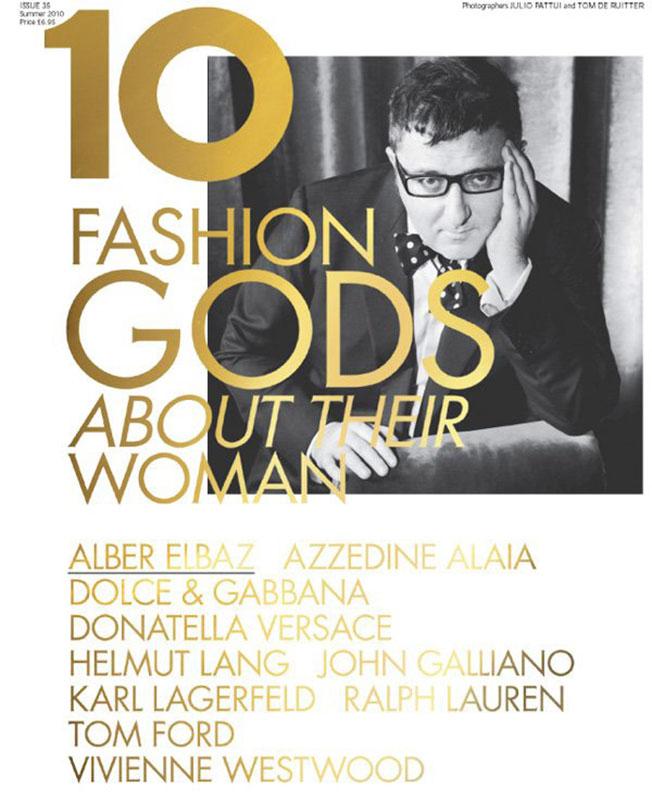 Alber Elbaz na okładce 10 Magazine