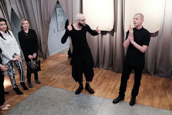 Maciej Słomkowski (właściciel butiku Flash) i Seweryn Chlebiński/fot.Konrad Piskała