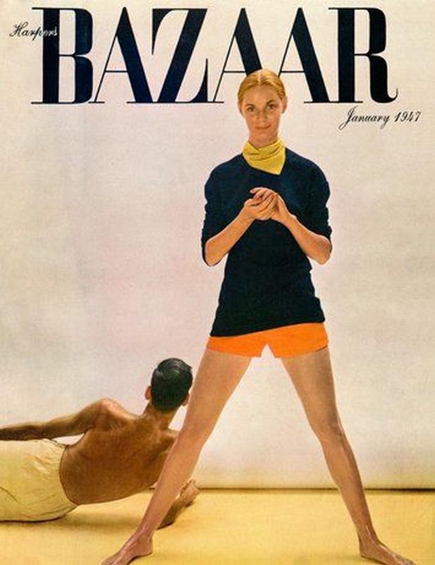 Harper's Bazaar styczeń 1947/fot. Richard Avedon