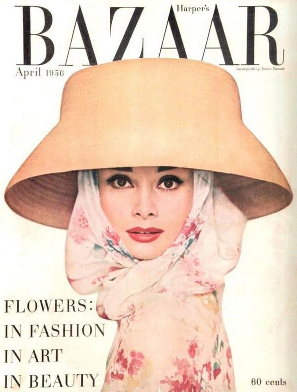 Audrey Hepburn na okładce Harper's Bazaar, kwiecień 1956r./fot. Richard Avedon