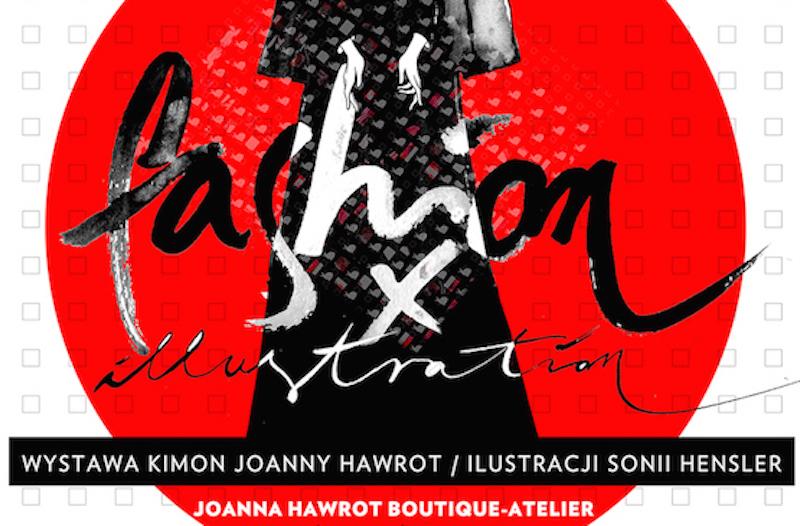 Fragment plakatu prezentującego wystawę FASHION X ILLUSTRATION