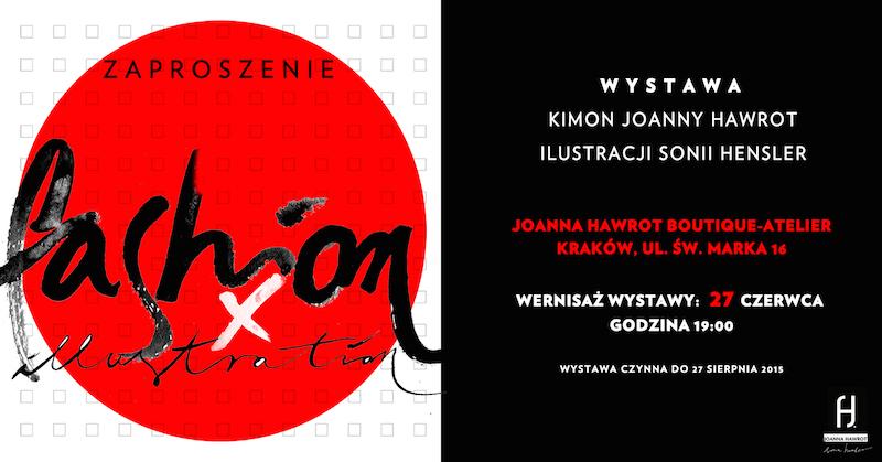 Zaproszenie na wystawę FASHION X ILLUSTRATION
