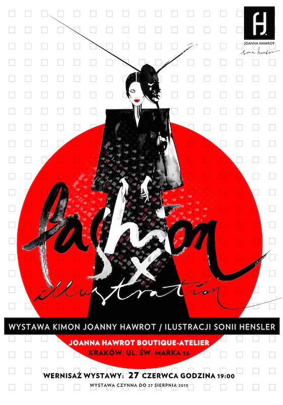 Plakat prezentujący wystawę FASHION X ILLUSTRATION