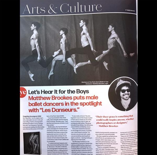 1-wszy artykuł o książce 'Les Danseurs' w magazynie WWD/Instagram: @matthewbrookesphoto3