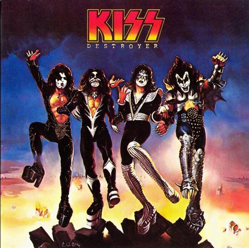 Okładka płyty Destroyer zespołu Kiss, 1976 rok