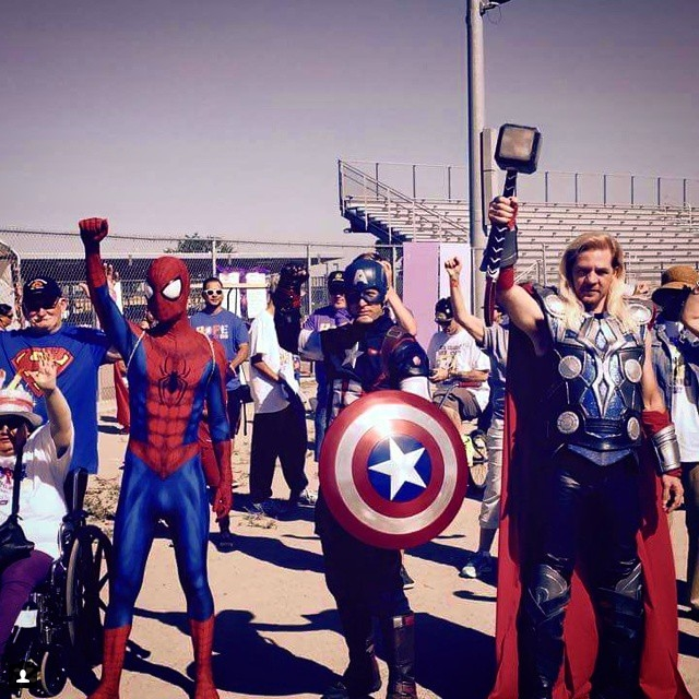 Spider-man, Kapitan Ameryka, Thor/Instagram: @bboyspiderman