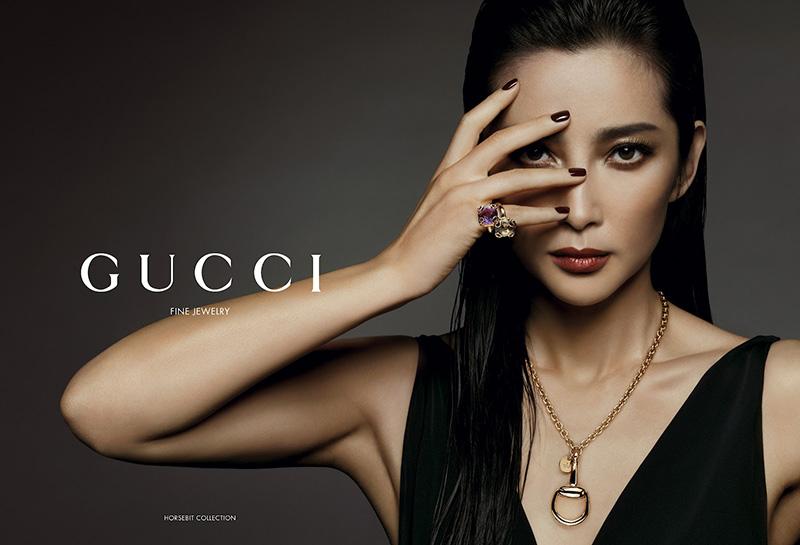 Li Bingbing w kampanii biużuteriiGucci
