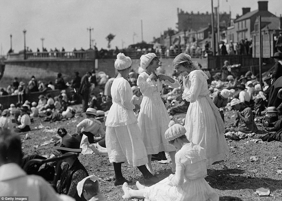 Plaża w Essex w 1919 roku/mat.prasowe Getty Images