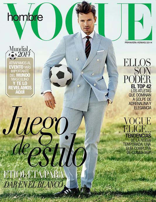 Alex Lundqvist na okładce Vogue Hombre w 2014 roku