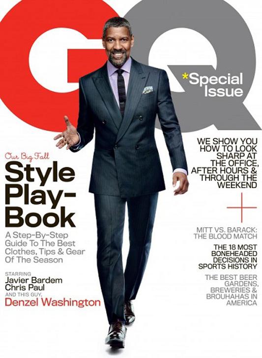 Denzel Washington na okładce GQ w 2012 roku