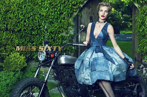 Natalia Vodianova w kampanii Miss Sixty na sezon jesień-zima 2015/16