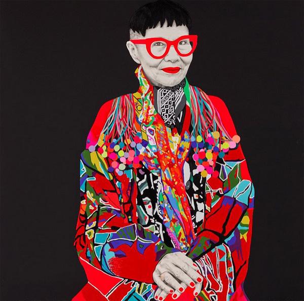 Portret Jenny Kee autorstwa Carly Fletcher _olej na płótnie/Instagram: @carlalfletcher