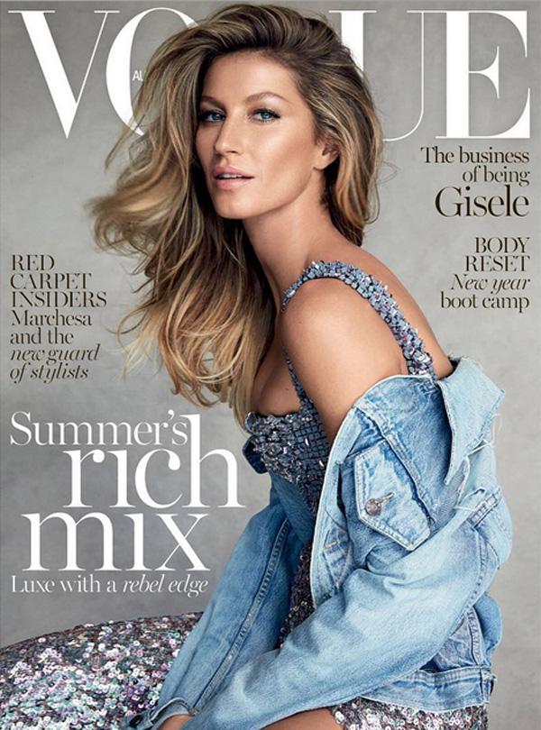 Gisele Bündchen na okładce magazynu Vogue Australia/Instagram: @vogueaustralia