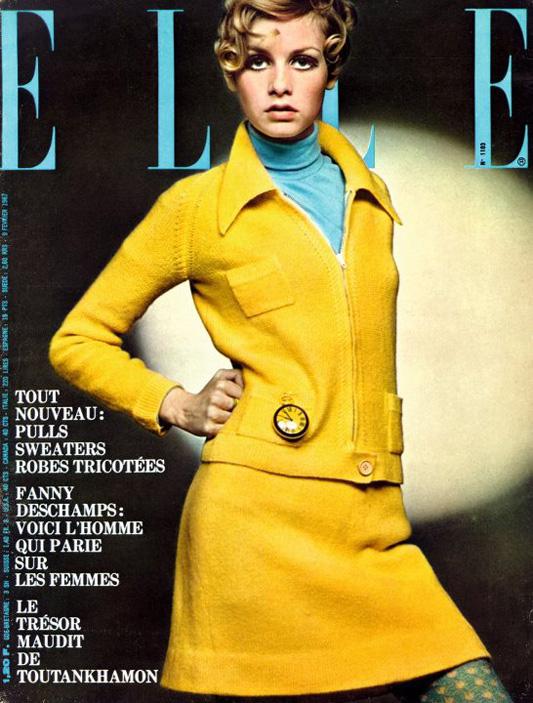 Twiggy Lawson na okładce Elle z 1967 roku