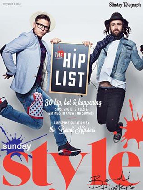 The Bondi Hipsters na okładce magazynu Style