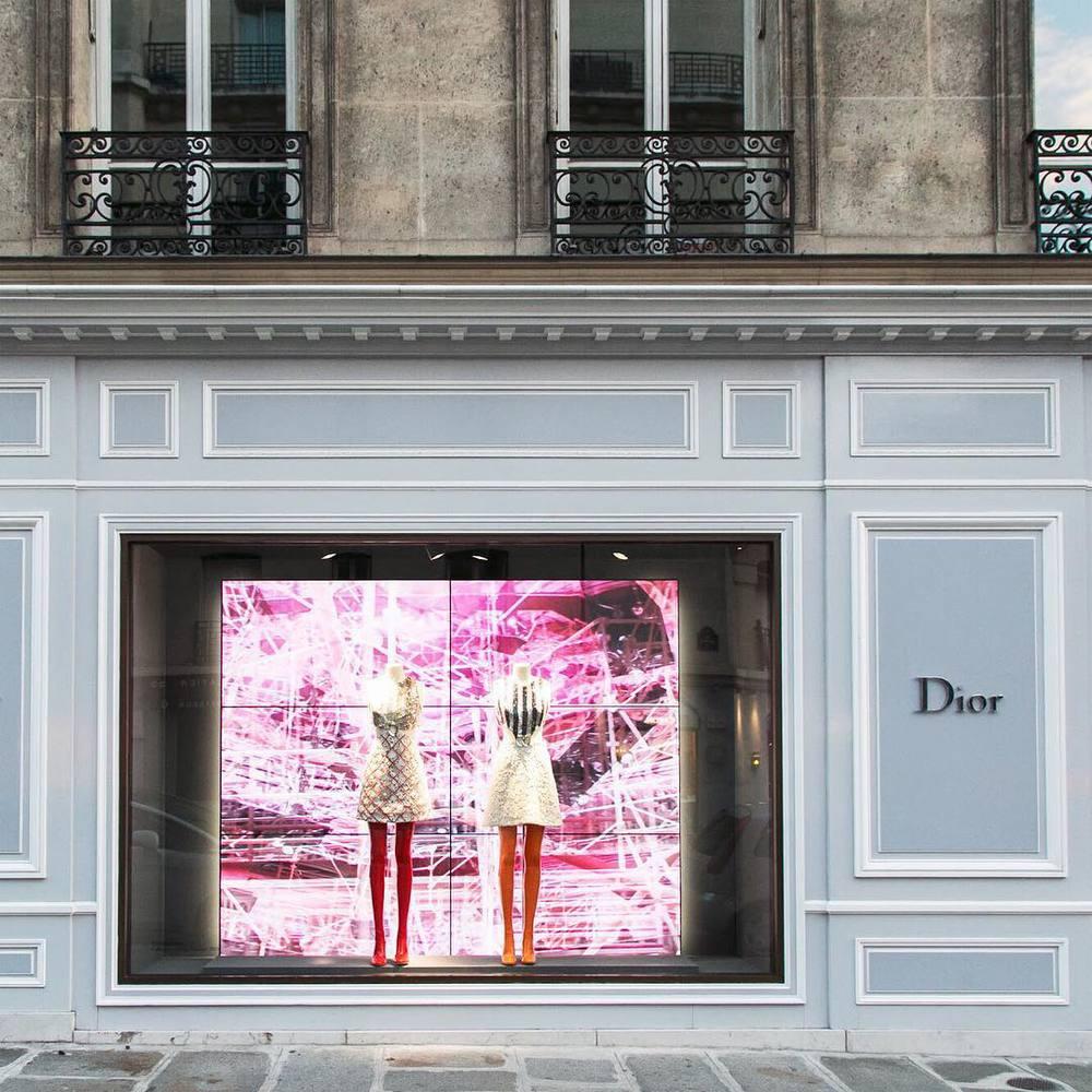 Butik Dior avenue Montaigne - Paryż/Instagram: @dior