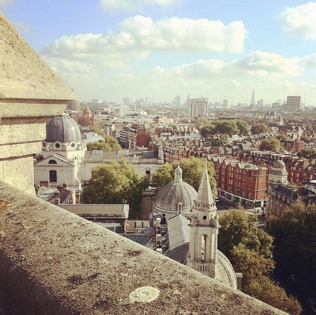 Widok na Londyn z muzeum Wiktorii i Alberta/Instagram: @vamuseum