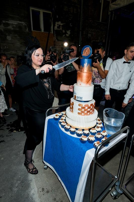 Urodzinowy tort Gosi Baczyńskiej/fot. Filip Okopny