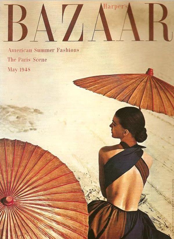 Okładka kwietniowego wydania magazynu BAZAAR z roku 1948