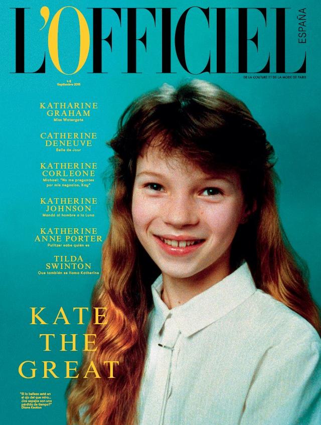 Kate Moss na wrześniowej okładce magazynu L'Officiele/Instagram: @lofficieles