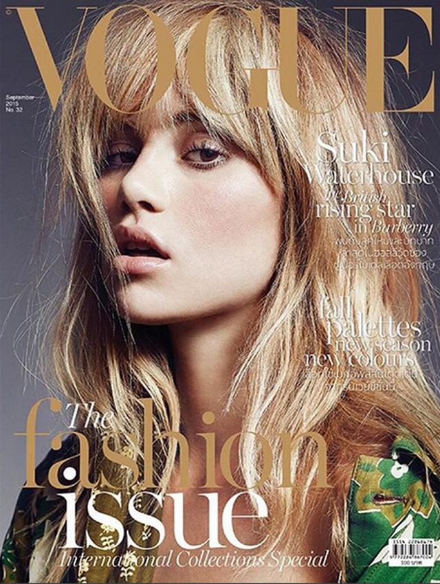 Suki Waterhouse na wrześniowej okładce Vogue Thailand/Instagram: @voguethailand