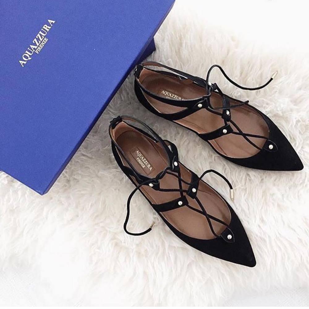 Pudełko do pakowania butów Aquazzura/Instagram: @aquazzura