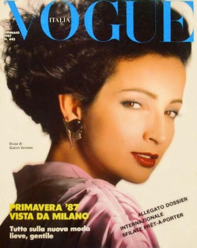 Betty Lago na okładce włoskiego wydania magazynu Vogue