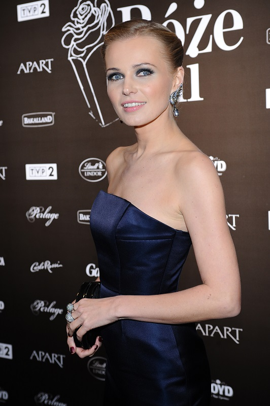 Agnieszka Cegielska w biżuterii Scallini - Róże Gali 2013/fot. MW Media