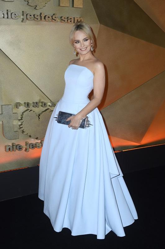Agnieszka Jastrzębska w biżuterii Scallini - Bal TVN 2014/fot. MW Media