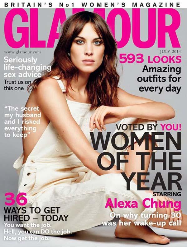 Okładka magazynu Glamour - lipiec 2014