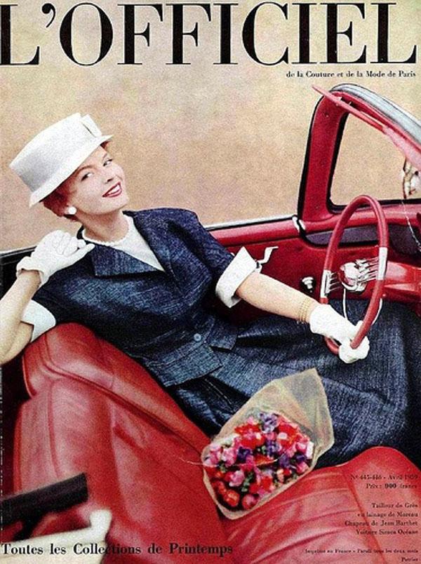 Okładka kwietniowego wydania magazynu L'Officiel - 1959 rok