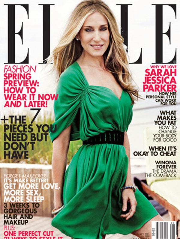 Okładka magazynu Elle, Sarah Jessica Parker and Halston Heritage styczeń 2011 rok