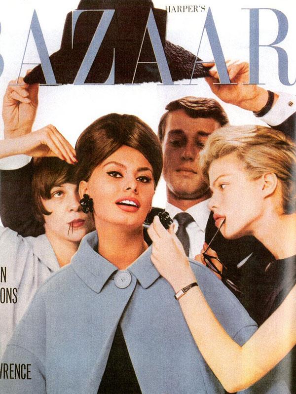 Sophia Lorenna okładce magazynu Harper's Bazaar, wrzesień 1961 rok