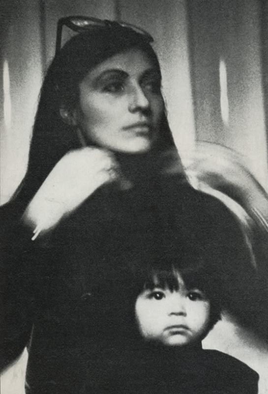 Emmanuelle Khanh i córka Atlantique.