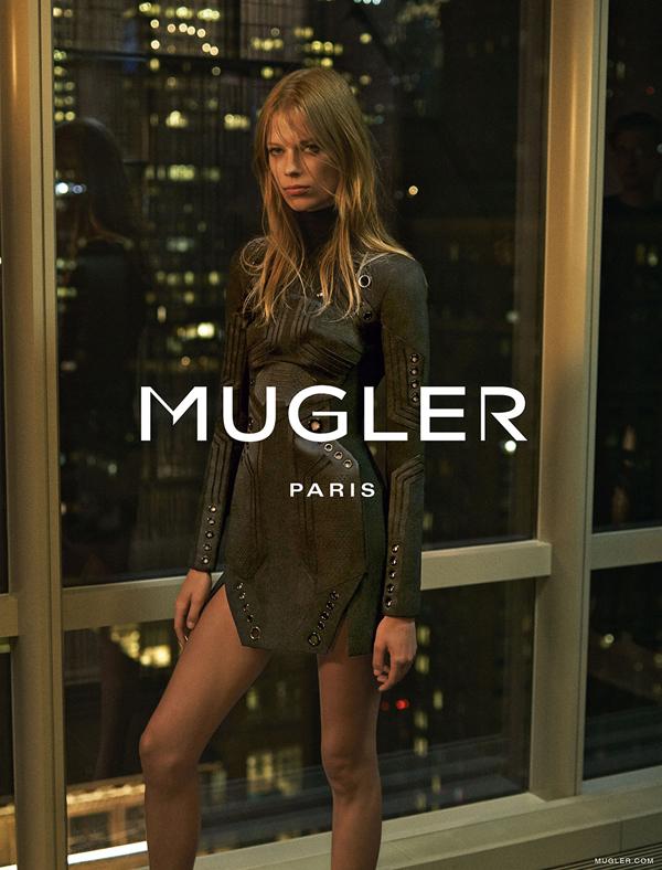 Kampania reklamowa domu mody Mugler na sezon jesień-zima 2015