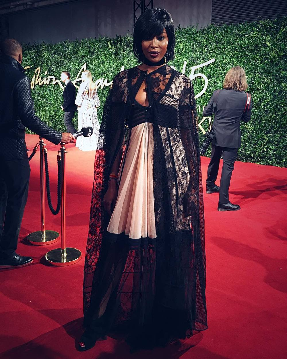 Naomi Campbell/Instagram: @burberry