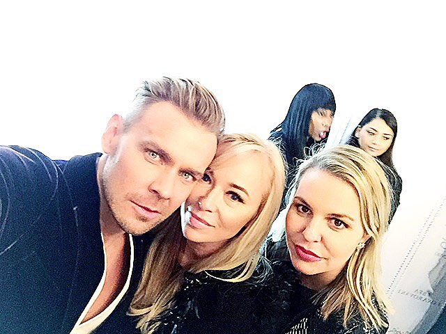 Dawid Woliński, Joanna Przetakiewicz i Bianka Tobińska podczas afterparty British Fashion Awards 2015/Instagram: @dawid_wolinski