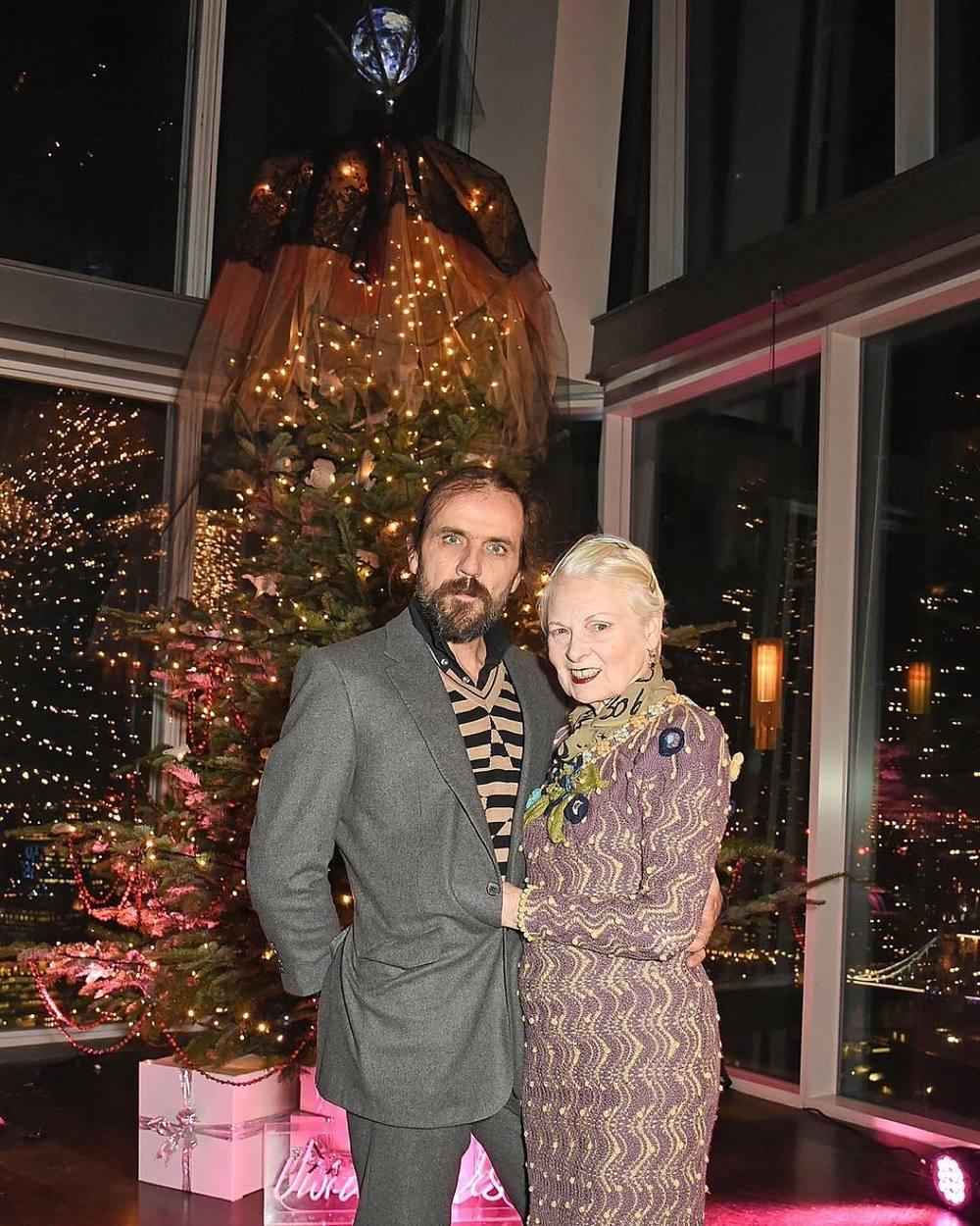 Vivienne Westwood z mężem Andreasem Kronthalerem/Instagram: @aquashard