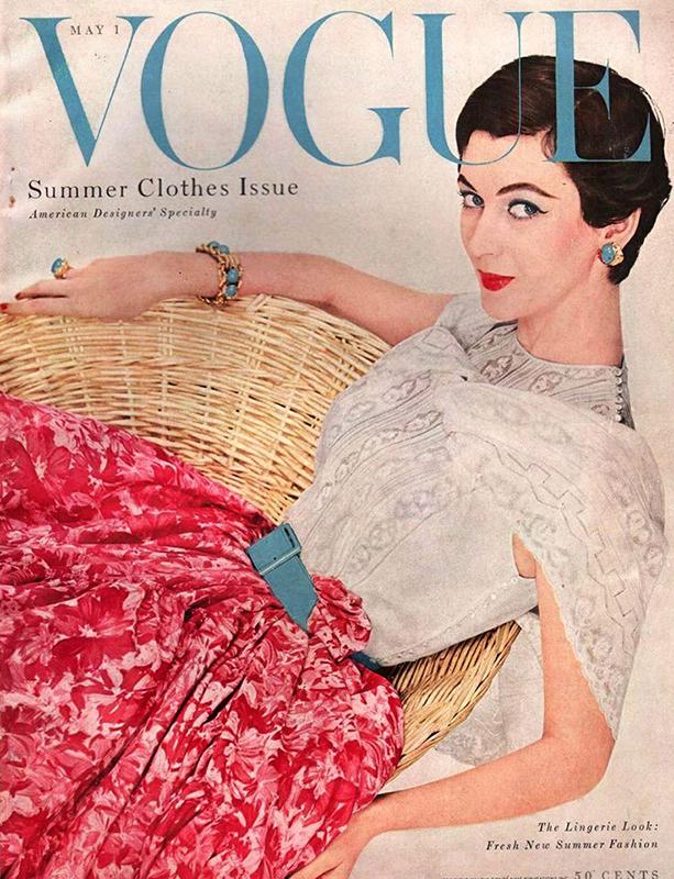 Dovima na okładce magazynu Vogue 1954 rok