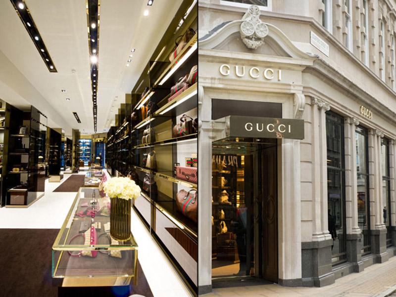 Butik Gucci w Londynie/fot. Instagram