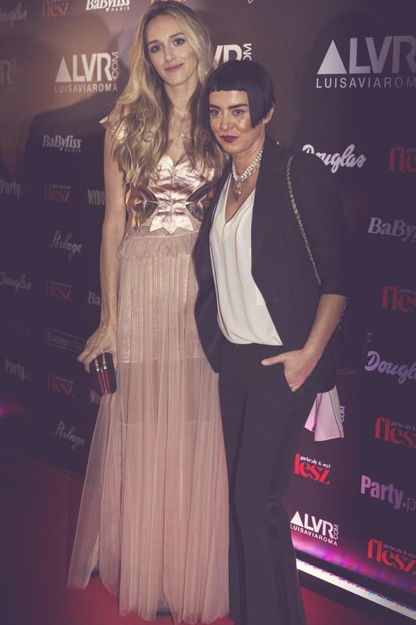 Agnieszka Maciejak i Aleksandra Żebrowska podczas Flesz Fashion Night/fot. Agnieszka Taukert