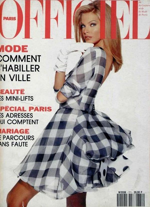 Okładka magazynu Officiel, Paryż 1992 rok
