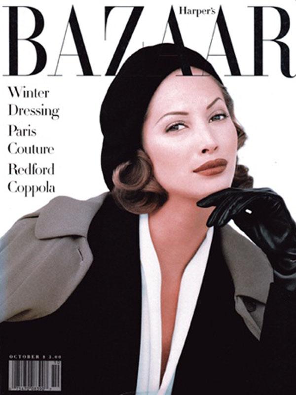 Okładka magazynu Harper's Bazaar, 1992 rok