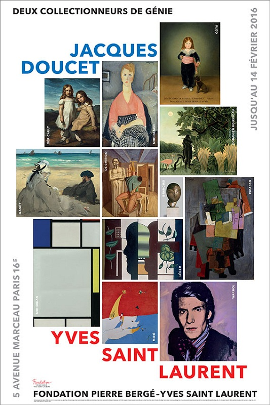 "Plakat promujący wystawę ""Jacques Doucet - Yves Saint Laurent, Living For Art"""