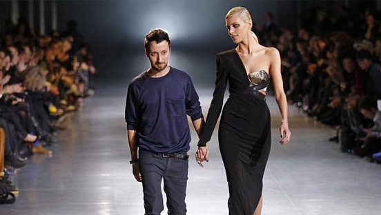 Anja Rubik i Anthony Vaccarello