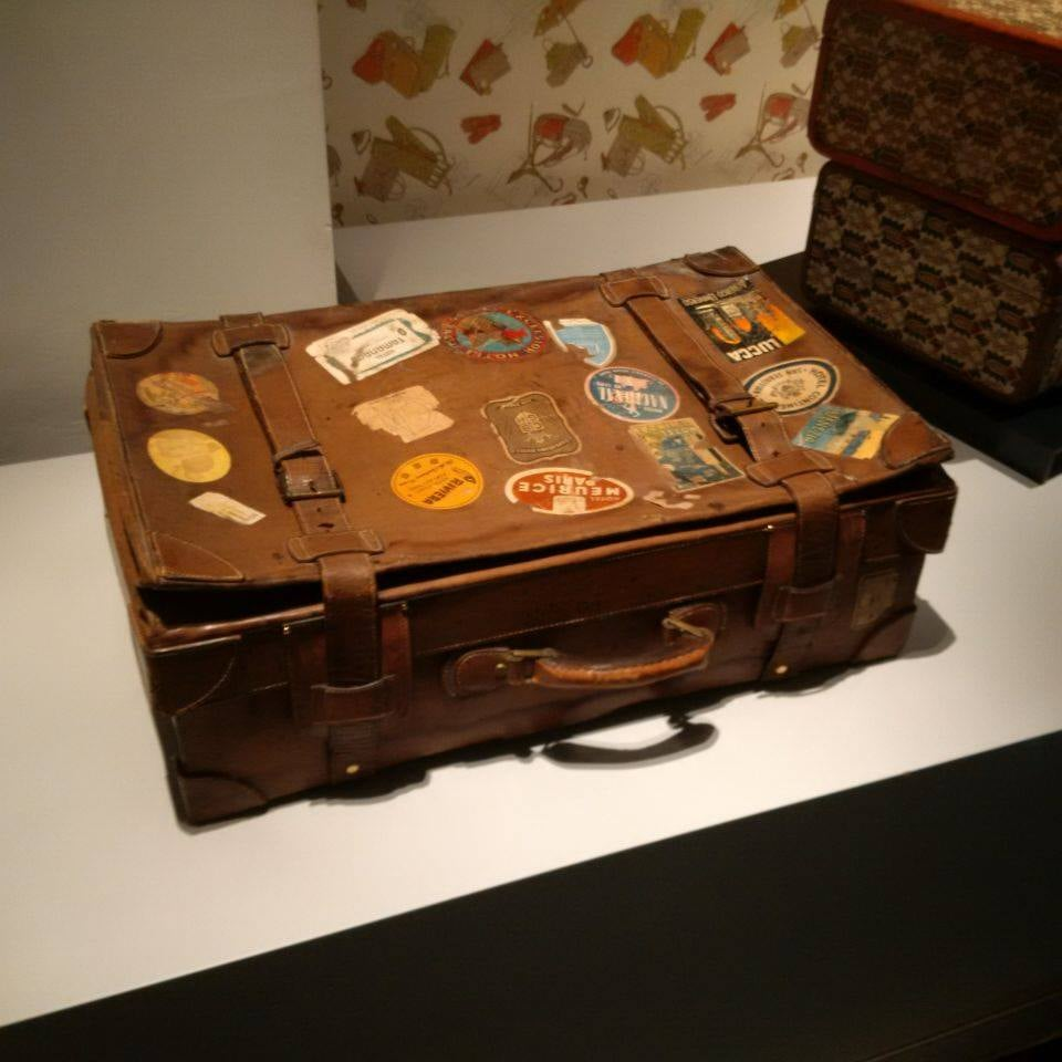 Stary kufer podróżny Gucci/fot. Anna Puślecka