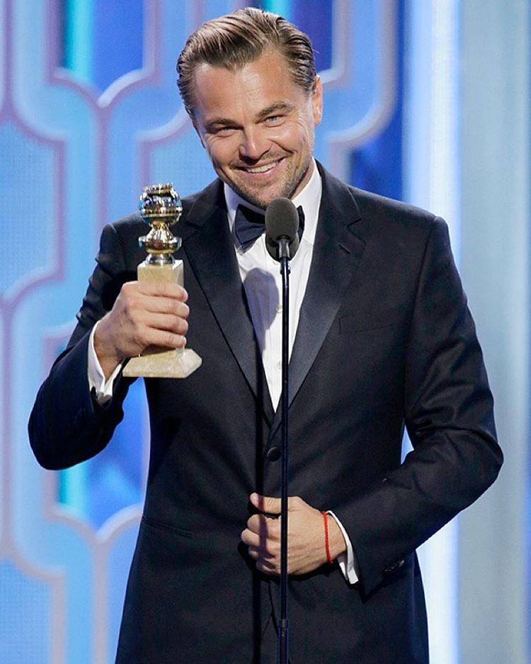 """Leonardo DiCaprio nagrodzony Złotym Globem za rolę w filmie """"Zjawa""""/Instagram: @buro247ru"""