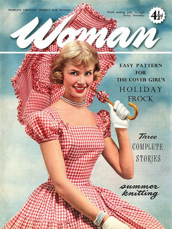 Okładka magazynu Woman, 1956 rok